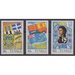 Tuvalu - 1982 - No 181/183 - Armoiries - Drapeaux