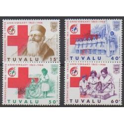 Tuvalu - 1988 - No 484/487 - Santé ou Croix-Rouge