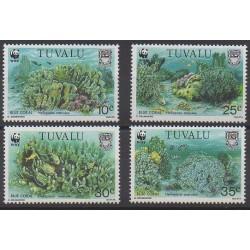 Tuvalu - 1992 - No 609/612 - Animaux marins - Espèces menacées - WWF
