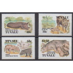 Tuvalu - 1995 - No 673/676 - Mammifères