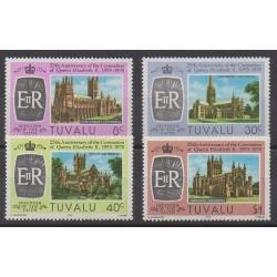 Tuvalu - 1978 - No 69/72 - Royauté - Principauté - Églises