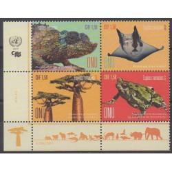 United Nations (UN - Geneva) - 2017 - Nb 980/983 - Endangered species - WWF