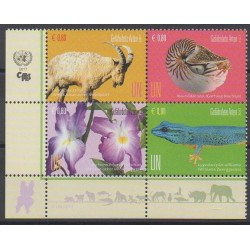 Nations Unies (ONU - Vienne) - 2017 - No 956/959 - Espèces menacées - WWF
