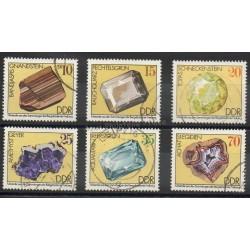Allemagne orientale (RDA) - 1974- No 1687/1692 - Minéraux - pierres précieuses - Oblitéré