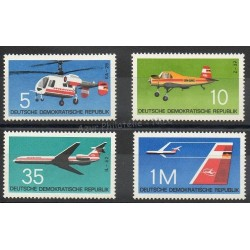 East Germany (GDR) - 1972- Nb 1436/1439 - Planes