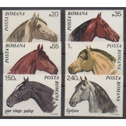 Roumanie - 1970 - No 2571/2576 - Chevaux