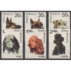Roumanie - 1971 - No 2586/2591 - Chiens
