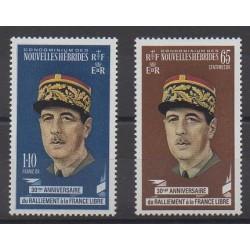 Nouvelles-Hébrides - 1970 - No 294/295 - De Gaulle