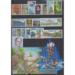 New Caledonia - Complete year - 2011 - Nb 1121/1140 (timbres gommés uniquement) - BF43/BF44