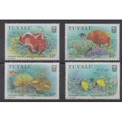 Tuvalu - 1988 - Nb 483A/483D - Sea animals