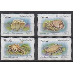 Tuvalu - 1993 - Nb 629/632 - Sea animals