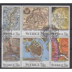 Suède - 1991 - No 1637/1642 - Oblitérés