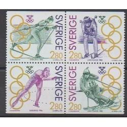 Suède - 1992 - No 1682/1685 - Jeux olympiques d'hiver