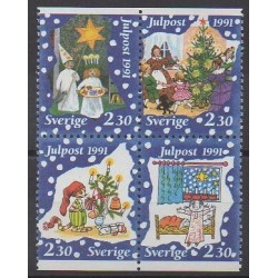 Sweden - 1991 - Nb 1677/1680 - Christmas