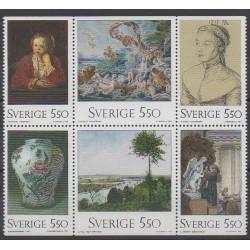 Suède - 1992 - No 1712/1717 - Peinture