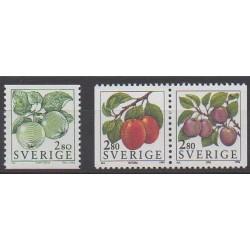 Suède - 1994 - No 1790/1792 - Fruits ou légumes