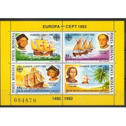 Timbres - Thème Christophe Colomb - Roumanie - 1992- No BF 220