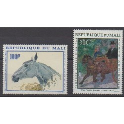 Mali - 1967 - Nb PA51/PA52 - Horses - Paintings