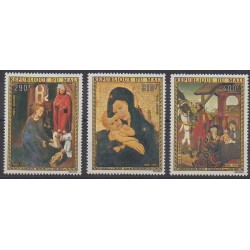Mali - 1974 - Nb PA230/PA232 - Christmas - Paintings