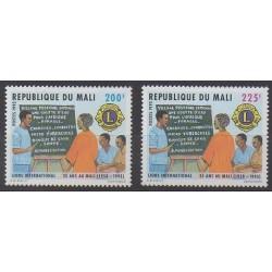 Mali - 1993 - Nb 596/597 - Rotary or Lions club