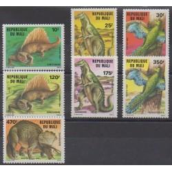 Mali - 1984 - No 503/509 - Animaux préhistoriques