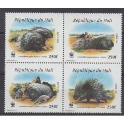 Mali - 1998 - Nb 1223/1226 - Mamals - Endangered species - WWF