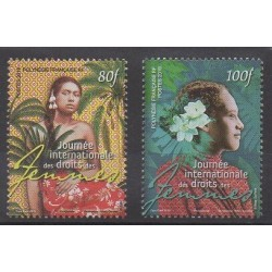 Polynésie - 2019 - No 1208/1209 - Droits de l'Homme