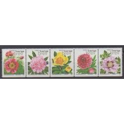 Sweden - 2001 - Nb 2220/2224 - Roses