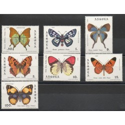 Angola - 1982- No 652/658 - butterfly