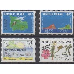 Norfolk - 2000 - Nb 697/700 - Children's drawings