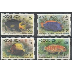 Ascension (Ile de l') - 1980- No 265/268 - fish