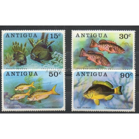 Antigua - 1976- No 435/438 - Poissons