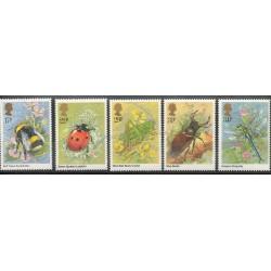 Grande-Bretagne - 1985- No 1173/1177 - Insects