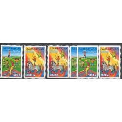 Azerbaïdjan - 2002- No 431/432 - 431a/432a - 431b/432b - Cirque