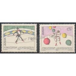 Liechtenstein - 2002- Nb 1224/1225 - Circus
