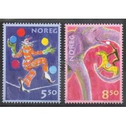 Norvège - 2002- No 1389/1390 - Cirque