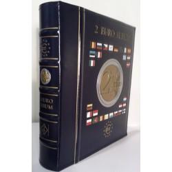 Reliure OPTIMA et étui assorti pour pièces de 2 euro commémoratives (vendue vide)