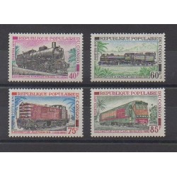 Congo (Republic of) - 1970 - Nb 279/282 - Trains - Mint hinged