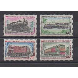 Congo (République du) - 1970 - No 279/282 - Chemins de fer - Neufs avec charnière