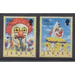 Jersey - 2002 - Nb 1019/1020 - Europa - Circus