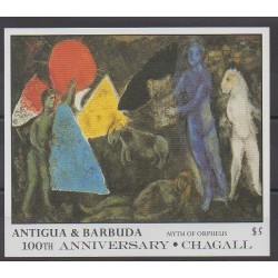Antigua and Barbuda - 1987 - Nb BF127 - Paintings