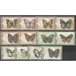 Zambie - 2000- No 974/985- Papillons