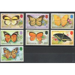 Antigua - 1975- No 379/385 - Papillons