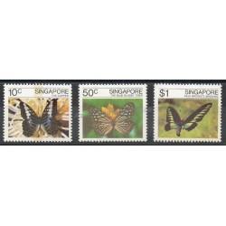 Singapour - 1982- No 385/387 - Papillons