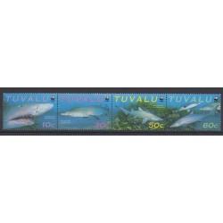 Tuvalu - 2000 - Nb 798/801 - Endangered species - WWF - Sea animals