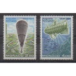 Monaco - 1984 - Nb 1427/1428 - Hot-air balloons - Airships - Boats