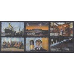 Aurigny (Alderney) - 2012 - Nb 435/440 - Boats - Various Historics Themes