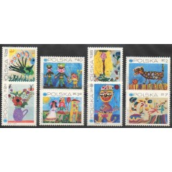 Pologne - 1971- No 1926/1933 - Children's drawings