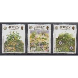 Jersey - 1986 - No 372/374 - Flore - Europa