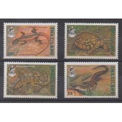 Swaziland - 1992 - No 596/599 - Reptiles